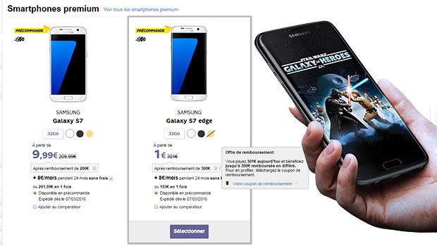 Samsung Galaxy S7 en promo chez les opérateurs