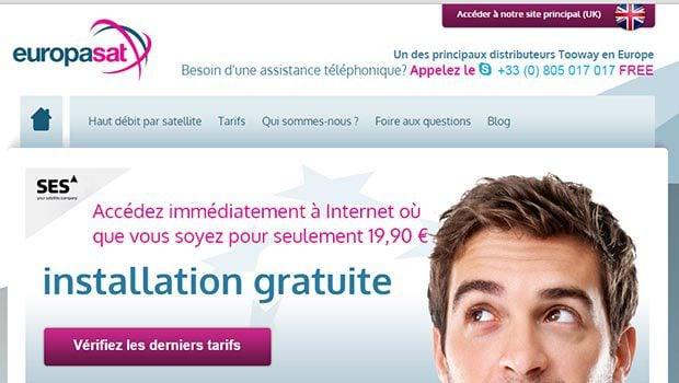 Europasat propose désormais un site français assez complet