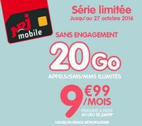 NRJ Mobile Woot 20 Go en promo