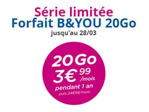 série limitée B&You 20Go 3.99 euros