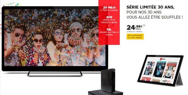 Promo Internet SFR à 25€ à vie avec SFR Sport