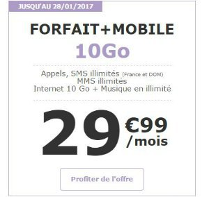 série limitée 10 Go avec engagement la poste mobile