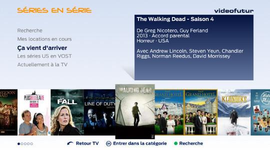 les séries disponibles dans la box videofutur