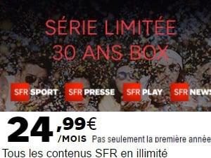 La Box 30 ans Série Limitée SFR
