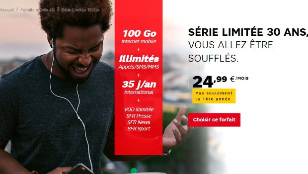 SFR Mobile : Série spéciale 30 ans