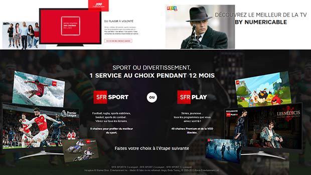SFR Box Starter Fibre avec SFR Sport ou SFR Play