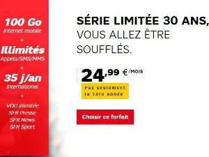 Offre mobile SFR en promo