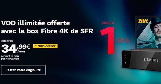 La box Fibre 4K de SFR