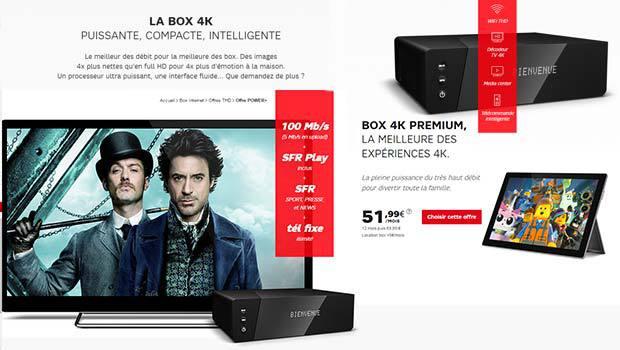 L'offre Premium avec la Box 4H THD de SFR