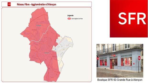La fibre optique à Alençon par SFR
