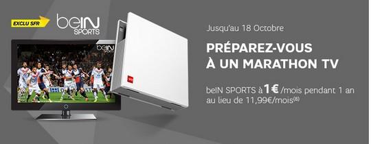 Bein Sports à 1€ chez SFR