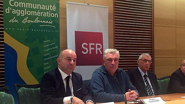 SFR et les élus du Pas-de-Calais signent l'inauguration du NRO à Boulogne-sur-Mer