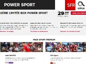 Les offres box de SFR Altice Starter, Power Sport ou Power Cinéma