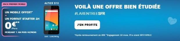 Mobile gratuit chez SFR