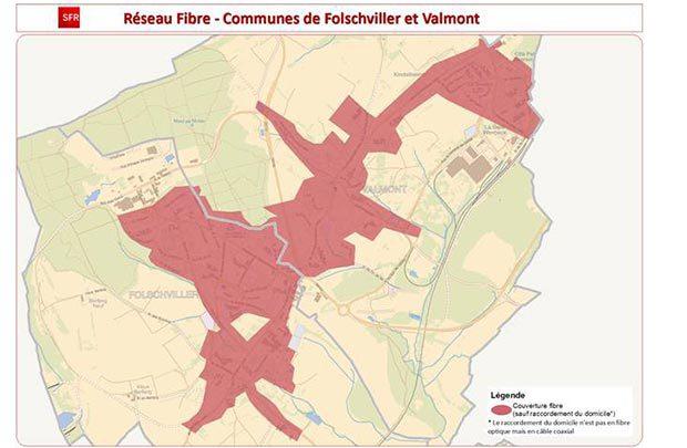 SFR cable des communes en Moselle'