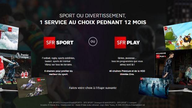 SFR Sport ou SFR Play au choix pendant un an