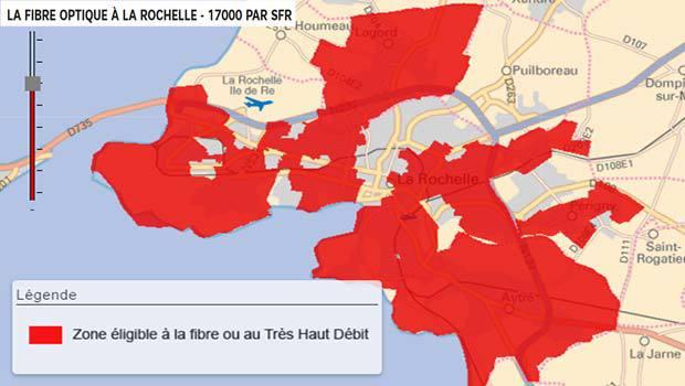 SFR sur l'agglomération de La Rochelle