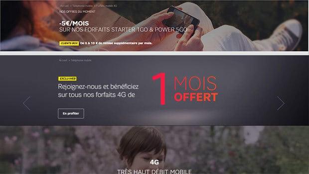 SFR Mobile, 1 mois offert et promos cumulables
