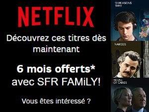 SFR propose Netflix sur ses Box internet