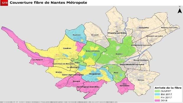 La fibre SFR sur Nantes Métropole