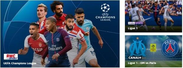 SFR Foot : RMC Sport, BeIN et Canal inclus
