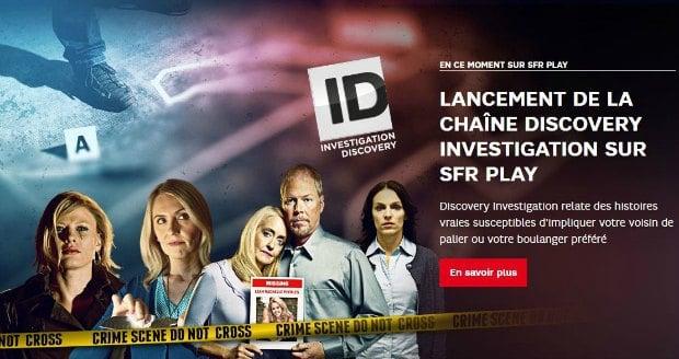 Discovery Investigation en exclusivité sur SFR Play