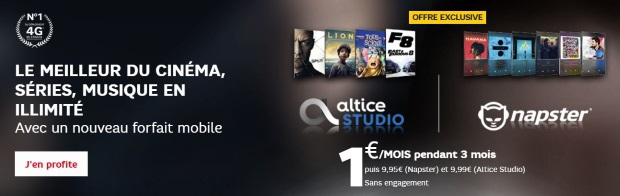 Video et musique en streaming en promotion chez SFR