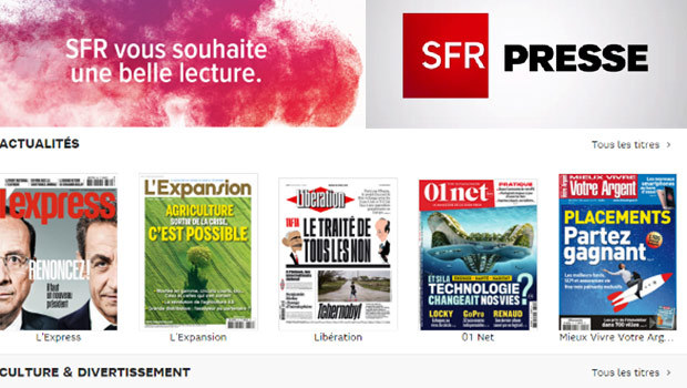 SFR Presse : l'application