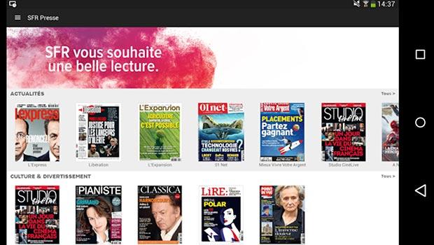 SFR Presse, de l'illimité sur un nombre de titres limité