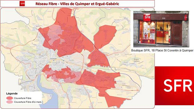 La carte de la fibre sur Qumper par SFR