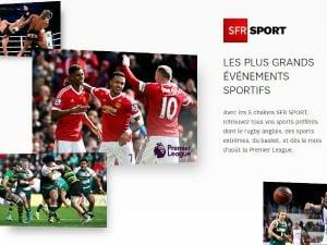 SFR Sport avec un forfait RED