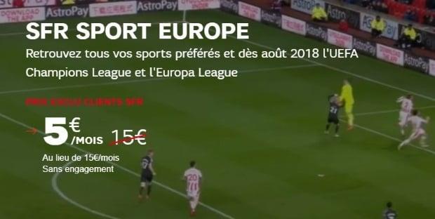 SFR Sport Europe pour regarder la Ligue des Champions