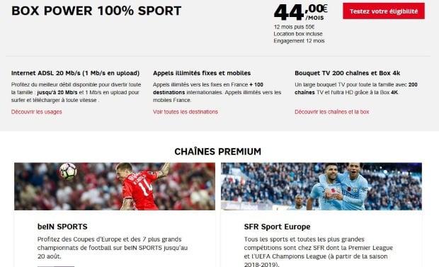 SFR Sport Europe et BeIN en promo pour regarder la Ligue des Champions