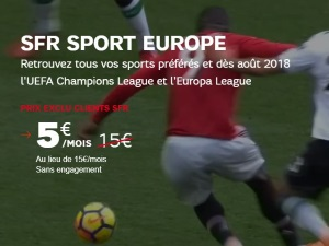 Nouvelle options SFR Sport Europe avant RMC Sport