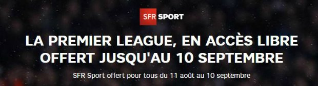 SFR Sport offert un mois pour la reprise de la Premier League