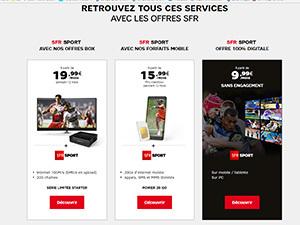 SFR Sport 100% digital à 9,99€/mois