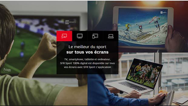 SFR Sport OTT et en application'
