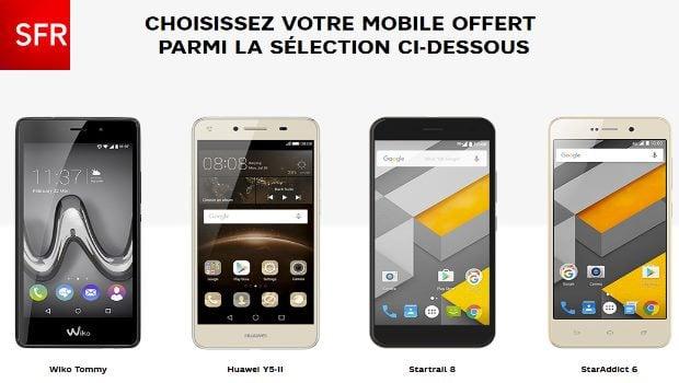 4 smartphones à -50€, mais avec deux forfaits !