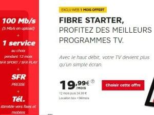 SFR : Internet + mobile dès 20,98€/mois