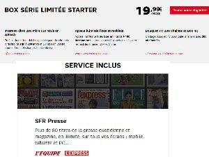Box Starter Série Limitée à moins de 25€/mois