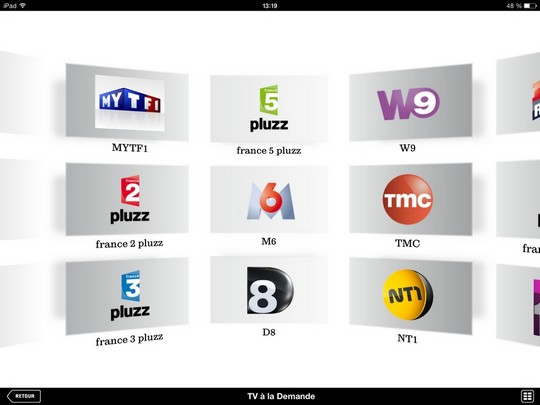 Replay à la demande SFR TV