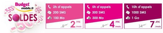 Les forfaits 3G+ de Budget Mobile à moitié prix