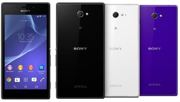 Sony Xperia M2 avec APN 8 Mégapixels, flash LED…