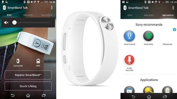 Lifelog, Contrôle vocal et SmartConnect si le Smartphone n'est pas un Sony