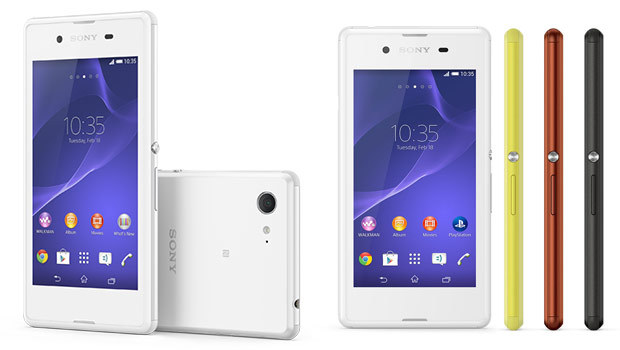 Sony Xperia E3, disponible, 4 coloris