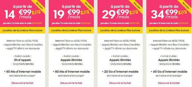 Sosh : Code de réduction internet+mobile