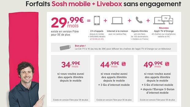 Promo sur les offres quadruple play Internet, TV, téléphonie et mobile