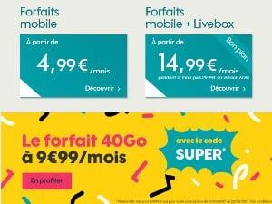 Sosh 40Go à 9,99€/mois