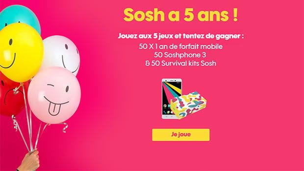 5 mini-jeux Sosh