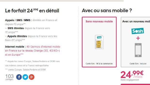 Les offres Sosh mobile